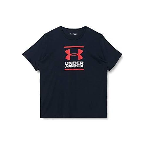 Under Armour UA GL Foundation Short Sleeve Tee, Maglietta a Maniche Corte Uomo, Nero (Black/White/Red 001), L