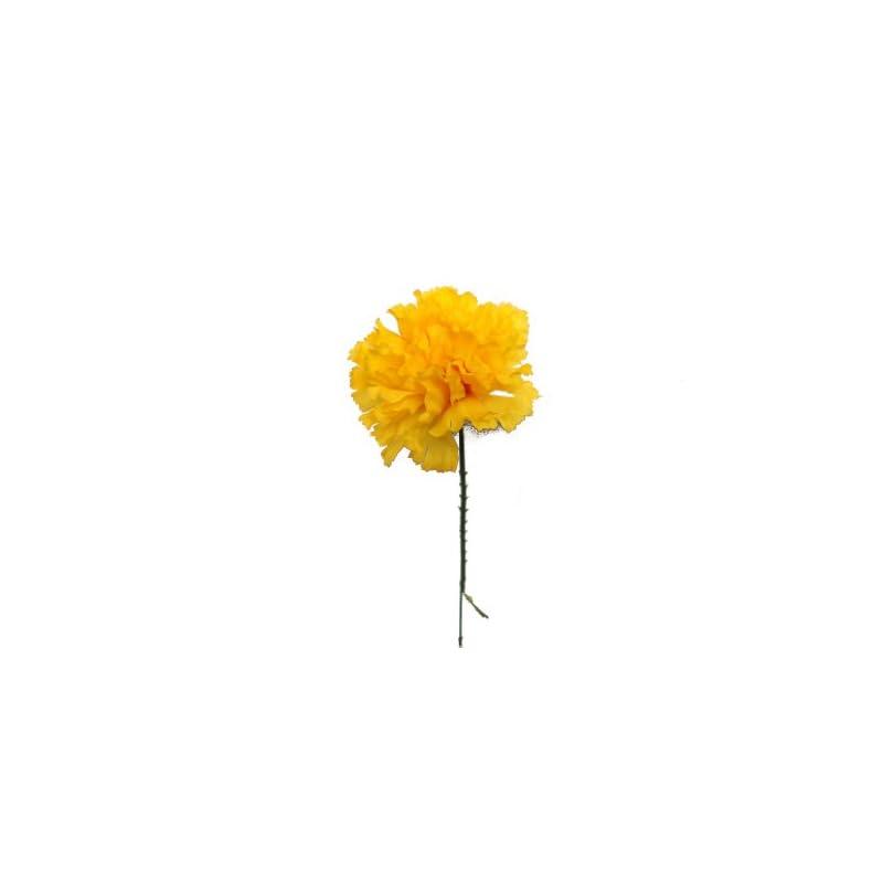 "silk flower arrangements larksilk gold silk carnation picks, artificial flowers for weddings, decorations, diy decor, 1000 count bulk, 3.5"" carnation heads with 5"" stems"