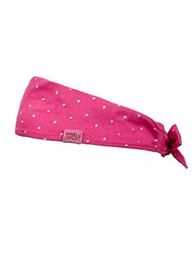 maximo Baby-Mädchen Haarband Mütze, Rosa (Pink Rose-Weiß-Tropfen 64), 47/49