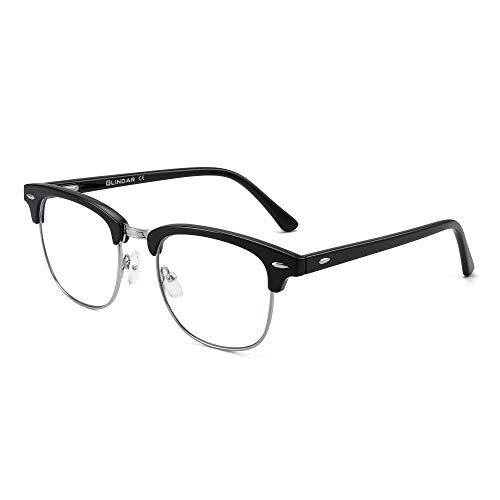 GLINDAR Blue Light Blocking Computer Glasses Retro Semi-rimless Style...
