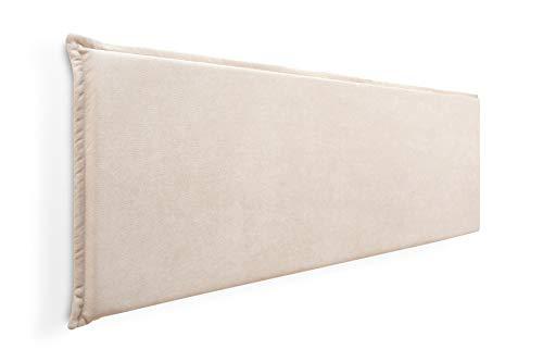 Cabecero de Espuma Jazmin Foam Liso con Ribete, Desenfundable, para Camas de 150 (164 x 52 cm) Tela Beige