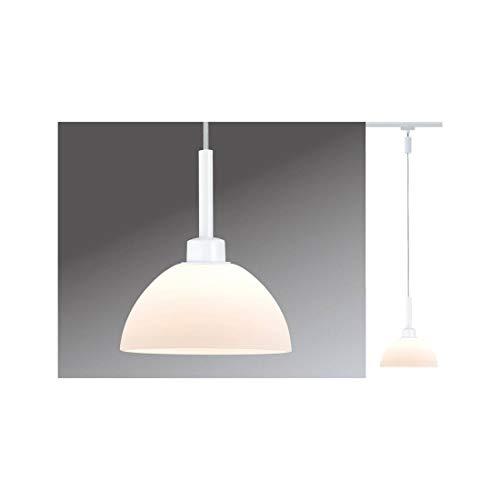 954.90 Paulmann Leuchten URail Pendel Sarrasani max.1x40W GU10 Weiß/Opal 230V Metall Glas