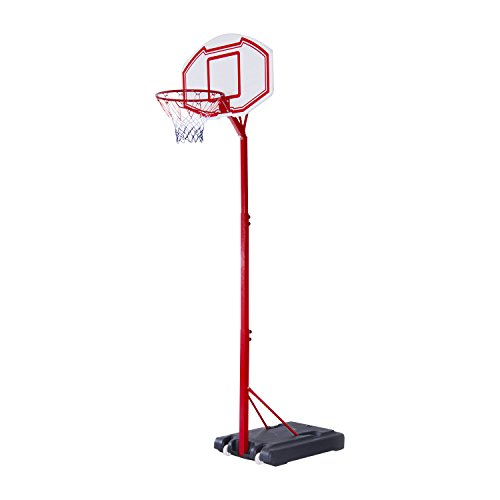 Aosom Portable Basketball Hoop System Height Adjustable 83''-102'' With 35' Backboard Stand for Kids