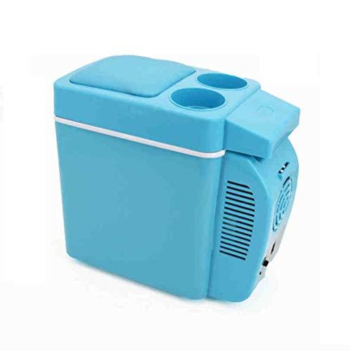 Refrigerador Refrigerador Congelador Glaciere 7L Mini Refrigerador de Coche 12V Refrigerador de Coche Refrigerador Caja de Doble Uso Frío / Caliente Portátil IceBox Pequeño Congelador, Camping, Carava