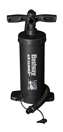 Bestway Bestway 62086 - Pompa Alta Pressione Multifunzioni Gonfia/Sgonfia Volume 2.800 Cc, 4 Adattatori per Valvola, Plastica, 20.5 x 11.8 x 38, Nero