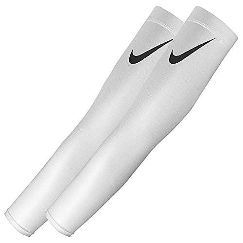 NIKE Pro Dri-FIT 3.0 Arm Sleeves, White (Adult S/M)