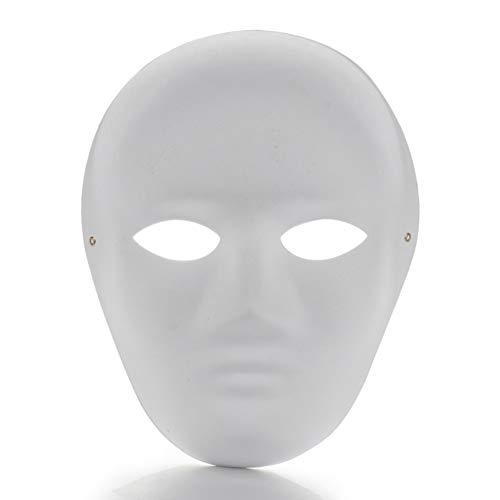 RTWAY 12 mascarillas blancas para pintar en blanco, máscara de papel de cara...