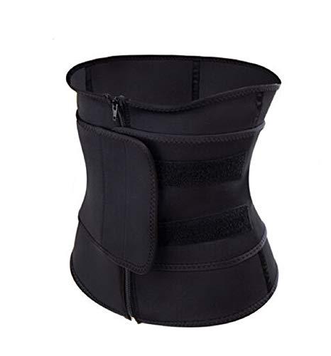 S-L Cintura Entrenador Trainer de Cintura del estómago de Las Mujeres de los Hombres Wicking Warm-Up Slim Shaper Sweat Cinturón Cintura Cintura Trainer (Color : Black XXXL)