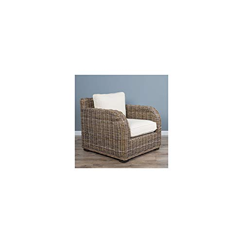 Sustainable Furniture Sofa Conservatory Chair, Wicker, Grey, One Size