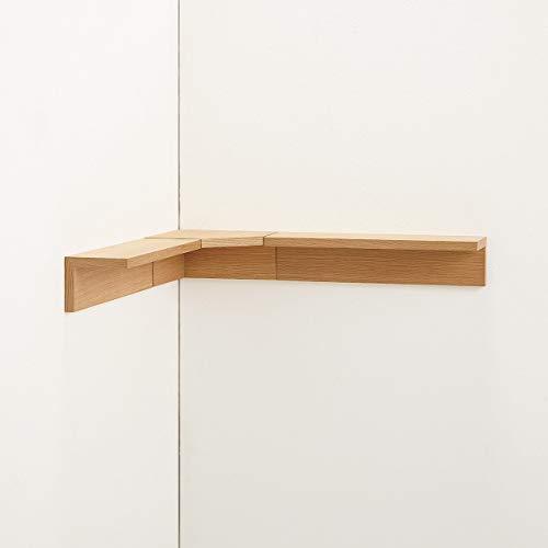 無印良品壁に付けられる家具・コーナー棚・オーク材幅22×奥行22×高さ10cm37286238