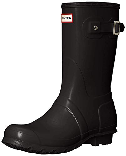 Hunter Original Short, Botas de Agua Unisex Adulto, Negro (Black RMA), 38 EU