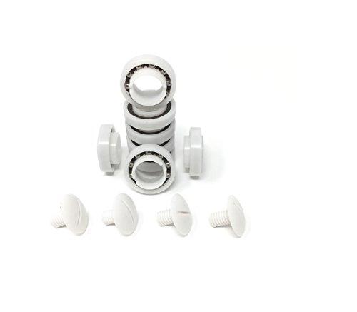 Southeastern Aftermarket Wheel Bearing 8 Pack + 4 Pack Screws for 280/180 Pool Cleaners C60 C55