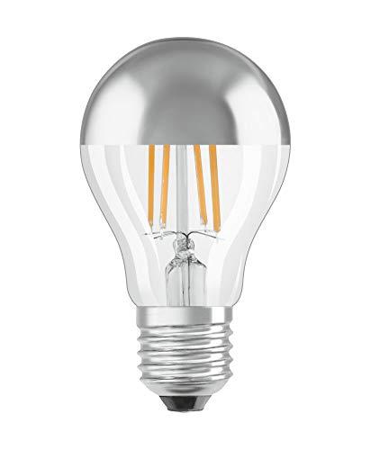 OSRAM LED Retrofit CLASSIC A Mirror Lampadina LED, Attacco: E27, Bianca Calda, 2700 K, 6.5 W Equivalenti a 50 W, LED Retrofit CLASSIC A, Chiaro, Taglia Unica