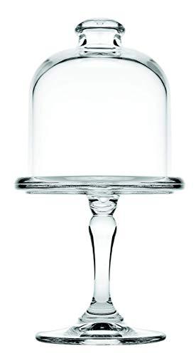 Mini-taartplaat D = 9 cm met glazen stolp