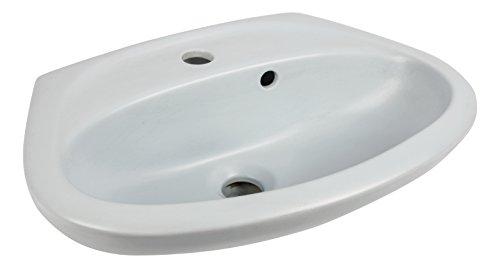 Handwaschbecken Juist , 45 cm , Crocus = Hellblau matt (nicht glänzend)