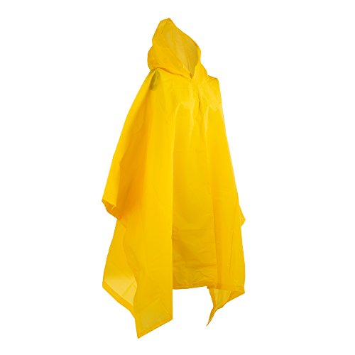 totes Hooded Rain Poncho, Yellow, One Size