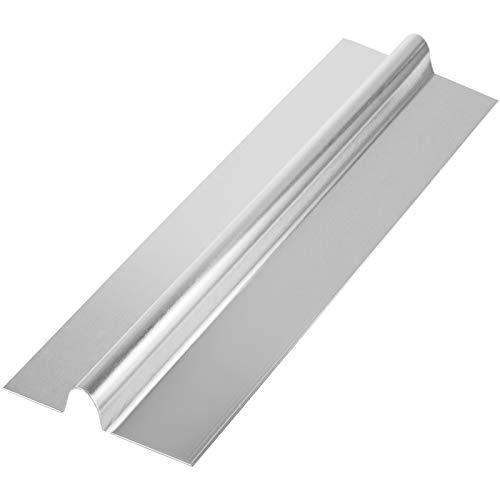 Happybuy 2Ft 1/2' PEX Heat Transfer Plates 100/Box Aluminum Heat Transfer Plates for Radiant Heating