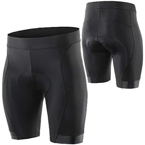 WWAIHY Hombre 3D Almohadilla Silicona Culotte Ciclismo,Transpirable De Secado Rápido Mountain Bike Shorts,Unisexo Pantalones Cortos De Ciclismo para Deportes Fitness(Size:Metro,Color:Negro)