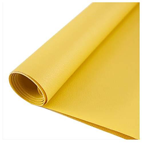 GERYUXA Tela De Cueropiel sintética para reparación de tapicería, Manualidades, Costura, sofá, Bolso de Mano, Lazos para el peloTela -Amarillo t8 1.38x1m
