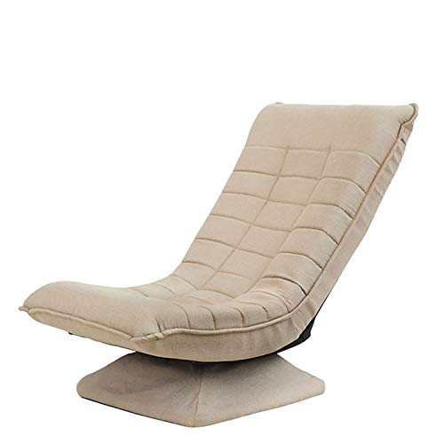 XYZCUP Deck Chair 360 Degree Arbitrary Rotation Sun Loungers Skin-Friendly Fabric Garden Chairs Quality Details Folding Chair Easy To Store,Beige