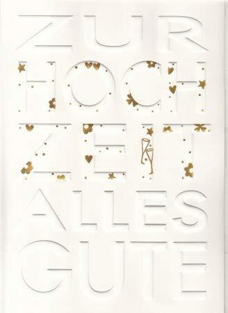 A4 Hochzeitskarte weiß gold