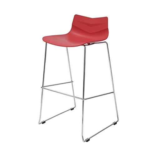 ZUOANCHEN smeedijzer, barstoel, barkruk, barstoel, modern, minimalistisch, van kunststof, polypropyleen, verzinkt, frame van ijzer, achter, bar, kruk, café, bar, stoel