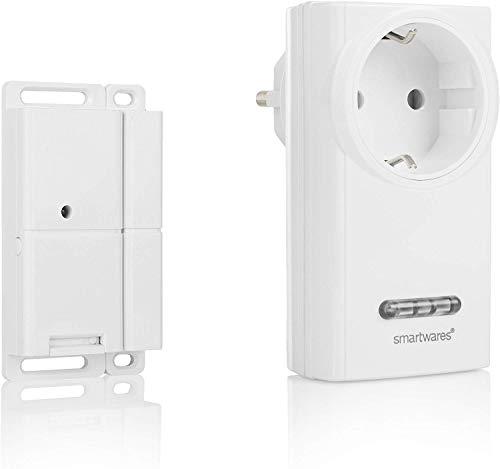 Smartwares Funk-Abluftsteuerung mit Fenster-Magnetkontakt und Funksteckdose für Dunstabzugshaube, Sh5-SET-KHC