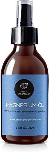 Ultra Pur MagnesiumÖl Spray 200ml - 100% Natürlich Reines Zechstein Öl von Organic Magnesium | Perfekt für Sport & Muskel entspannung| Flüssig MagnesiumChlorid Oil Konzentrat