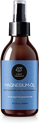 Organic Magnesium Oil Spray 200ml - 100% Natural Ultra Pure Zechstein Oil from Organic Magnesium | Perfect for Sports & Muscle Relaxation | Liquid Magnesium Chloride Oil Concentrate