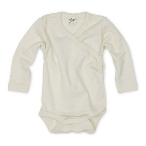 Lilano Wickelbody, Größe 80, Farbe Natur von Wollbody® - 70% Schurwolle kbT, 30% Seide - Vertrieb nur durch Wollbody®