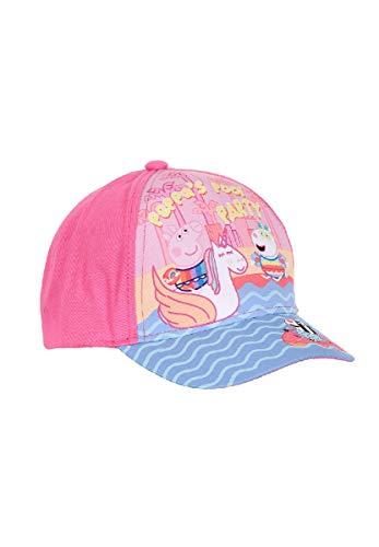 Peppa Wutz Pig Cap Kappe Snapback Für Kinder, Farbe:Pink, Größe:54