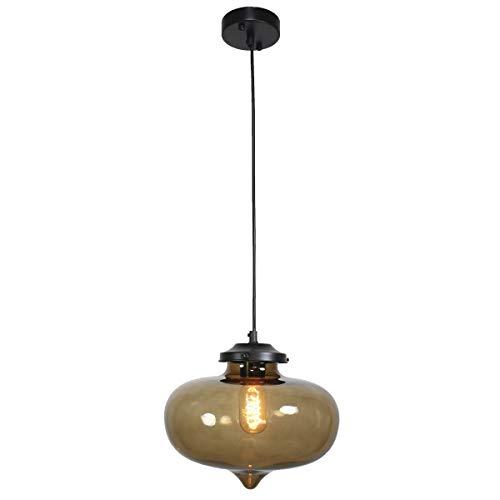 Moderne plafondlamp met rookglas.