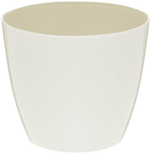 Plastkon Décoration Pot Decorative Flower Pot Ella Brillant Ø 11 cm, Blanc