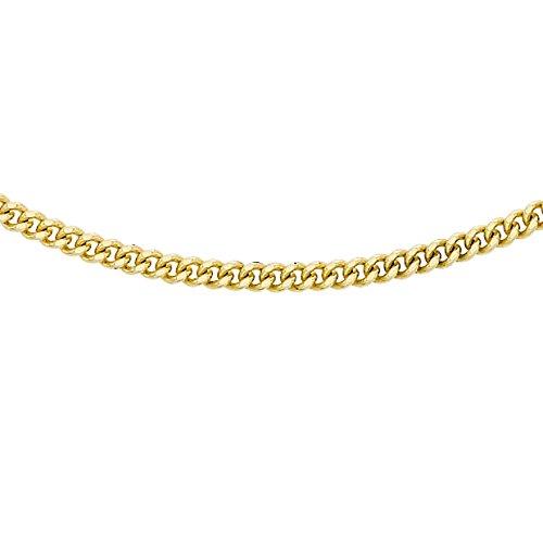 Carissima Gold Damen 9k (375) Gelbgold 0.8mm Diamantschliff Panzerkette 1.13.0033 41cm/16zoll