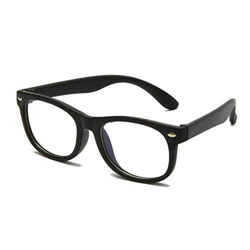 Long Keeper Occhiali Bambina Anti Luce Blu Infrangibili per Ragazze Ragazzi Occhiali da Gioco Anti-affaticamento Degli Occhi e Protezione UV per Bambino (Nero)