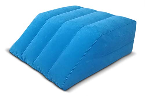 Comfort Axis Inflatable Leg Rest Elevating Bed Wedge, Blue