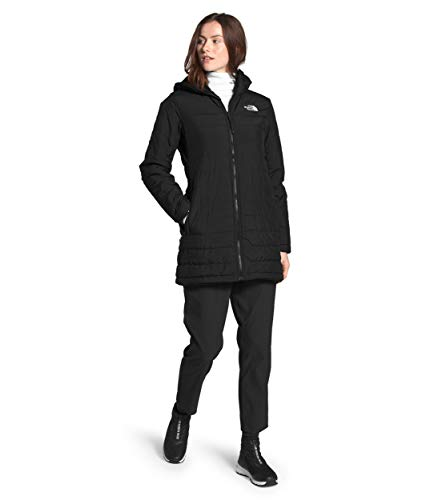 The North Face Women's Mossbud Insulated Reversible Parka, TNF Black, S