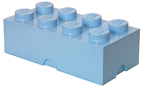 LEGO Storage Brick With 8 Knobs, in Light Royal Blue
