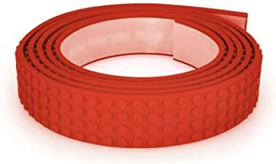 Mayka Toy Block Tape 4 Stud Red 6 Feet 2 Pack Compatible with Lego product image