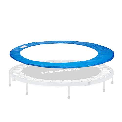 Relaxdays, Azul, 244 cm diámetro Cubierta Borde Cama Elástica, PVC-PE-EPE, Unisex