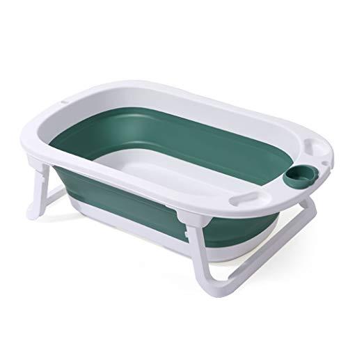 Babybad, kunststof opvouwbare douchebak kleuterschool ziekenhuis douchecilinder comfortabele en duurzame zwememmer 80 * 48 * 24CM 80 * 48 * 24CM Groen