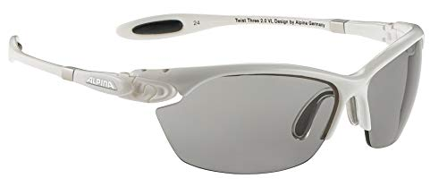 ALPINA Sonnenbrille Performance TWIST THREE 2.0 VL Outdoorsport-brille, White, One Size
