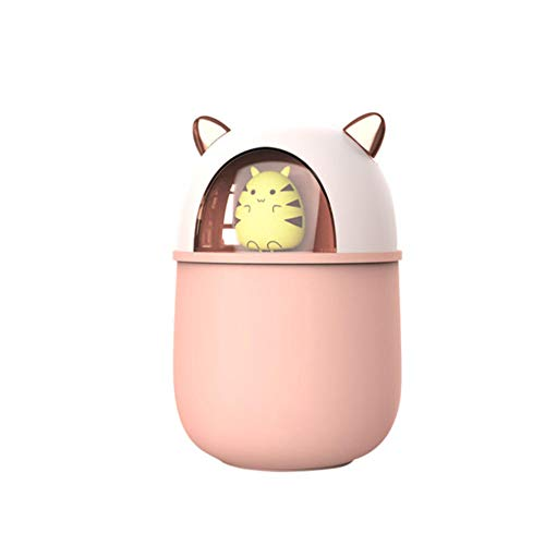 vvff Humidificador De Aire De Dibujos Animados Lindo Difusor De Aroma USB con Luz Colorida Mini Humidificador Ultrasónico Mist Maker Purificador De Aire Tamaño 8.2 × 8.2 × 12.8Cm