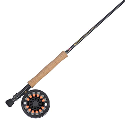 PENN Fishing Battle Fly Reel and Fishing Rod Outfit Combo, Black, 8wt, BTLFLY8WT90