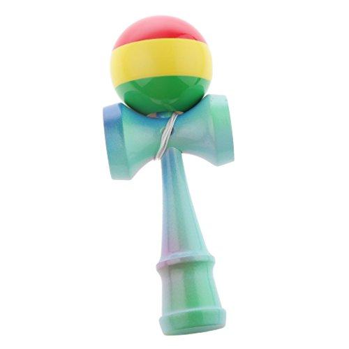 Regenbogen Kendama aus Holz Geschicklichkeit Ballspiel