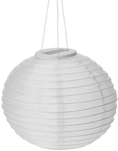 Solar Lampion weiß - Regenfeste Solarlampe - Hochzeit Fest & Gartenbeleuchtung - Laterne LED 28cm
