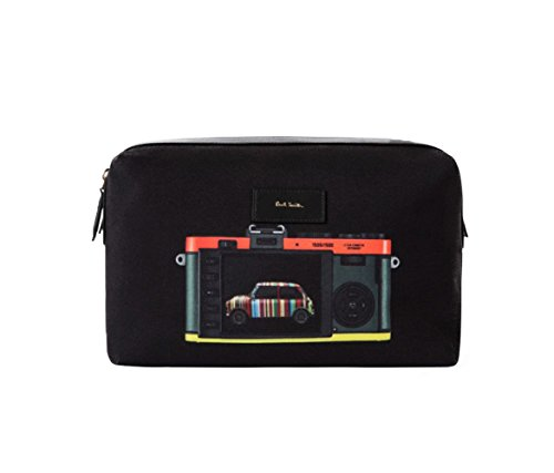 Paul Smith  Leica Mini Print, Beauty Case  Uomo Nero Black