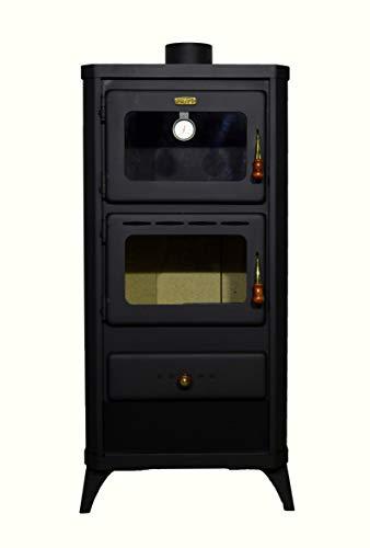 Estufa de leña con horno. Estufa de combustible sólido de calefacción de 12kw