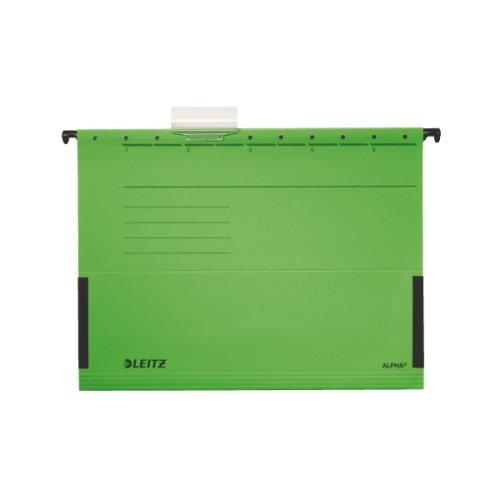 Leitz Hängetasche ALPHA®, seitlich mit Fröschen, Colorspankarton, grün