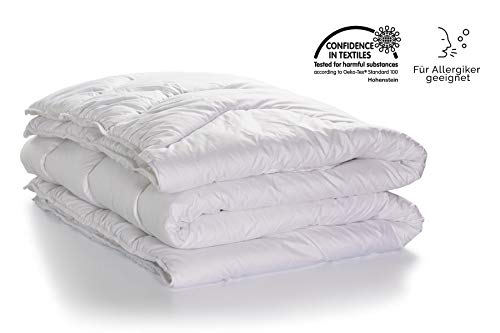 Swiss Sense® - Dixxius Bettdecke Basic Einzeln 200 x 220 cm - Ganzjahres- Steppbettdecke - Allergiker geeignet